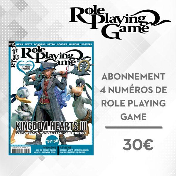 Abonnement 4 numéros RPG