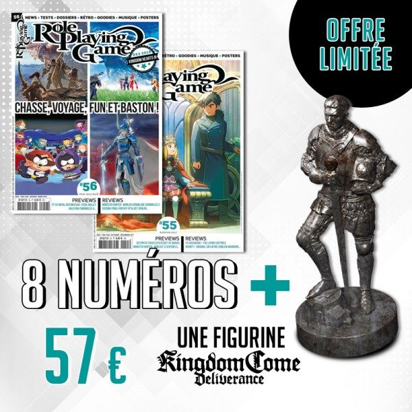 Abonnement 1 an à Role Playing Game + cadeau figurine Kingdom Come: Deliverance