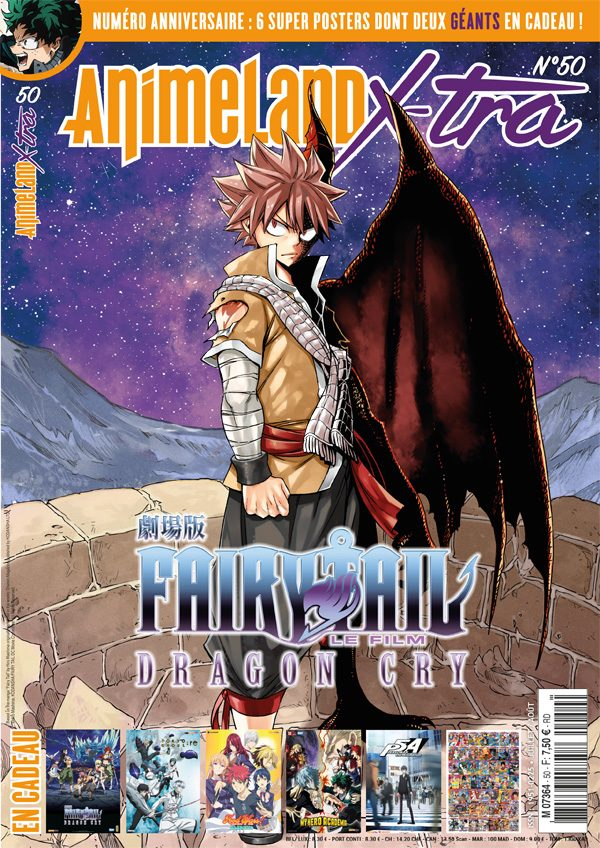 AnimeLand X-tra #50 couverture Fairy Tail Dragon Cry