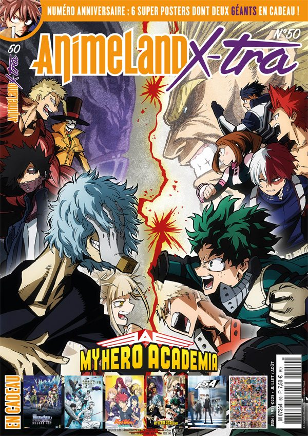 AnimeLand X-tra #50 couverture My Hero Academia