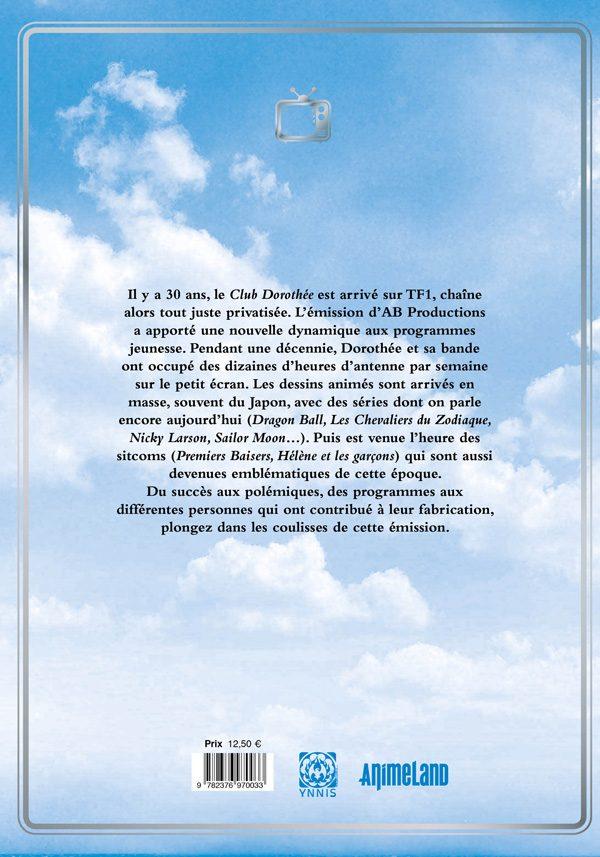 4e de couverture Hommage au Club Dorothée - 30e anniversaire